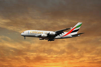 Emirates Airbus A380-861 2 Poster