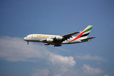 Emirates Airbus A380-861 4 Poster