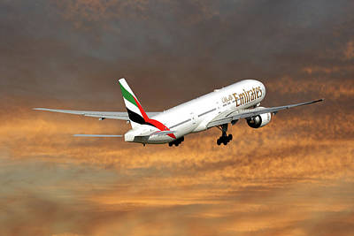 Emirates Boeing 777-36n 3 Poster
