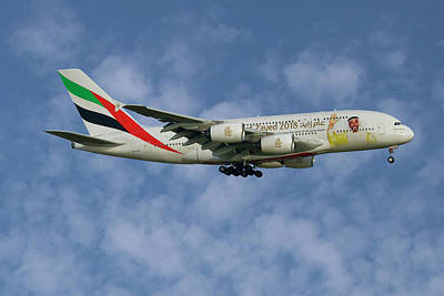 Emirates Year Of Zayed 2018 Livery Airbus A380-861 1 Poster