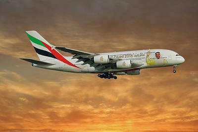 Emirates Year Of Zayed 2018 Livery Airbus A380-861 2 Poster