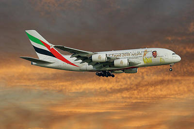 Emirates Year Of Zayed 2018 Livery Airbus A380-861 3 Poster