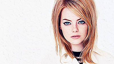 Emma Stone Poster by Iguanna Espinosa