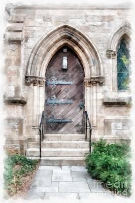 Emmanuel Church Newbury Street Boston Ma Poster by Edward Fielding