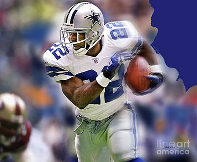 Emmit Smith, Number 22, Running Back, Dallas Cowboys. Poster