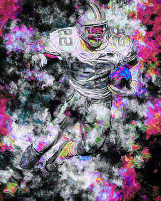 Emmitt Smith Dallas Cowboys Painting Digital 13 Poster