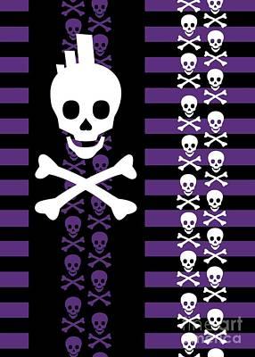 Emo Punk Skull Poster