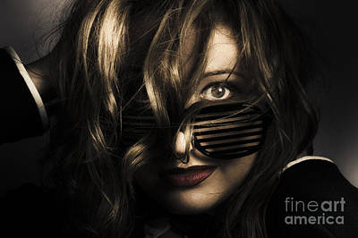 Emotive Headshot On A Fashionable Female Model Poster by Jorgo Photography - Wall Art Gallery