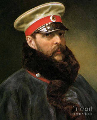 Emperor Alexander II Poster by Russian School