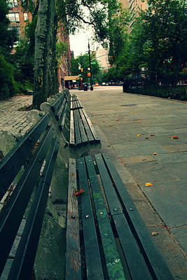 Empty Benches Poster by Karol Livote