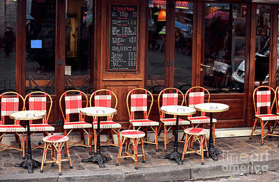Empty Montmartre Cafe Poster
