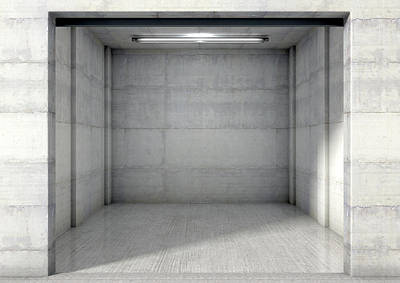 Empty Single Garage Poster