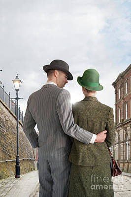 Poster featuring the photograph Empty Street With Victorian Buildings by Lee Avison