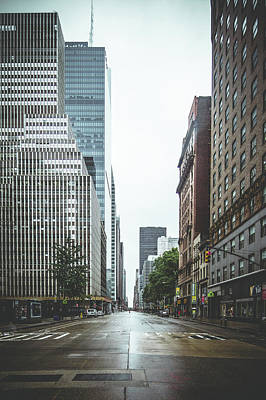 Empty Streets - New York City Poster by Thomas Richter