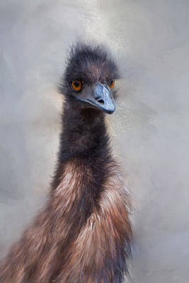 Poster featuring the photograph Emu by Robin-Lee Vieira