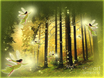 Poster featuring the digital art Enchanted Forest - Fantasy Art By Giada Rossi by Giada Rossi