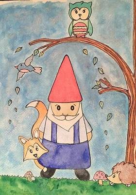 Enchanted Gnome Forest Poster by Kristi Rinier
