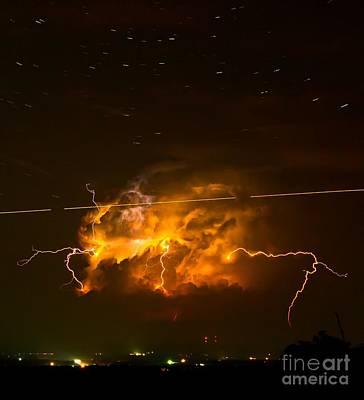 Enchanted Rock Lightning Poster