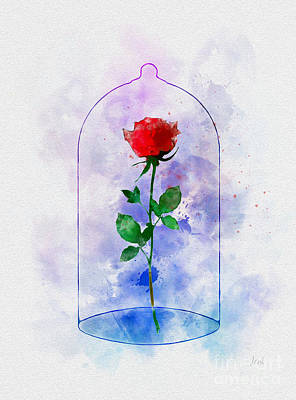 Enchanted Rose Poster by Rebecca Jenkins