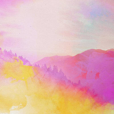 Poster featuring the digital art Enchanted Scenery #2 by Klara Acel