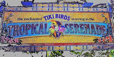 Enchanted Tiki Birds Poster