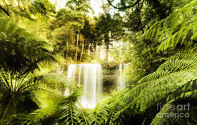 Enchanting Waterfall Landscape Poster by Jorgo Photography - Wall Art Gallery