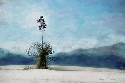 Enchantment Of The Yucca White Sands New Mexico Poster by Barbara Chichester