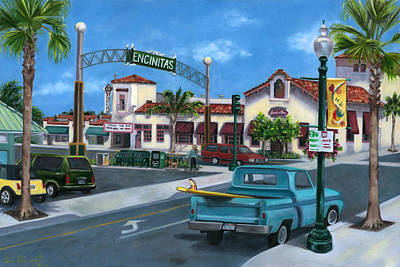 Encinitas Dreaming Poster by Lisa Reinhardt