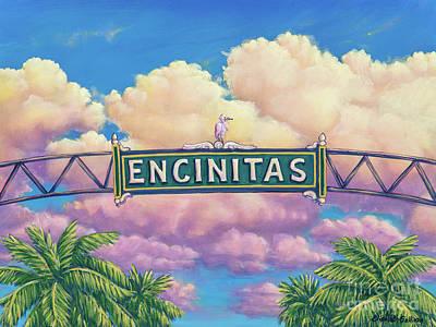 Encinitas Sunset Poster