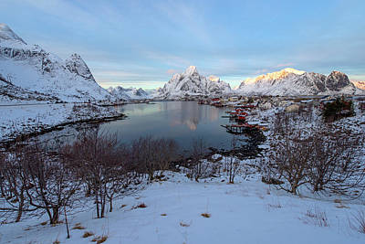 Poster featuring the photograph End Of Day, Reine, Lofoten,  by Dubi Roman