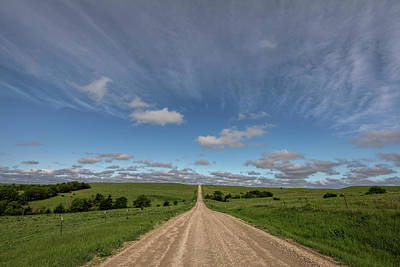 Poster featuring the photograph Endless Country Road by Scott Bean