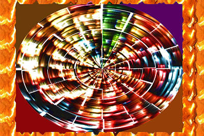 Energy Aura Cleaning Wheel In Motion Yoga Meditation Mandala By Navinjoshi At Fineartamerica.com Poster