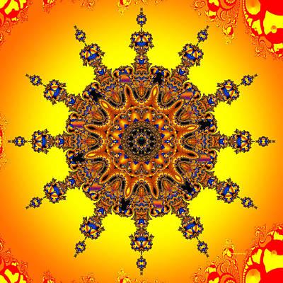 Poster featuring the digital art Energy Star by Robert Orinski