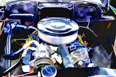 Engine Compartment 2 Poster by Lanjee Chee