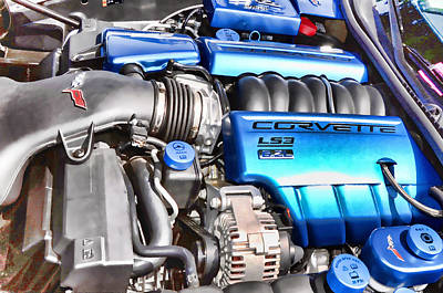 Engine Compartment 4 Poster by Lanjee Chee