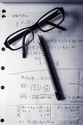 Engineering Student Calculations Poster by Jorgo Photography - Wall Art Gallery
