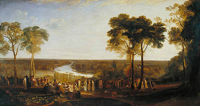 England Richmond Hill On The Prince Regent's Birthday Poster by Joseph Mallord William Turner