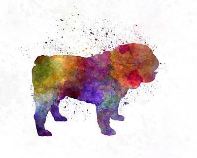English Bulldog In Watercolor Poster by Pablo Romero