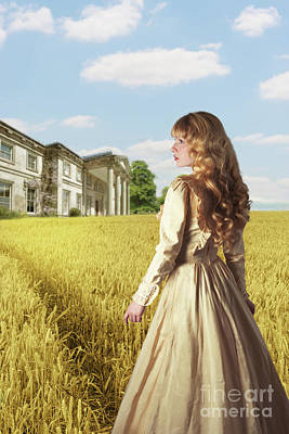 English Countryside With Mansion Poster