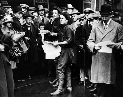English General Strike. British Poster by Everett