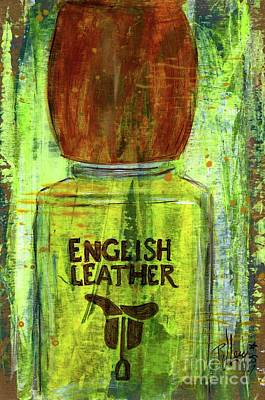Poster featuring the painting English Leather by P J Lewis