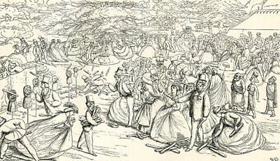 English Society Enjoying A Fair Poster