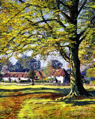 English Village Poster by David Lloyd Glover