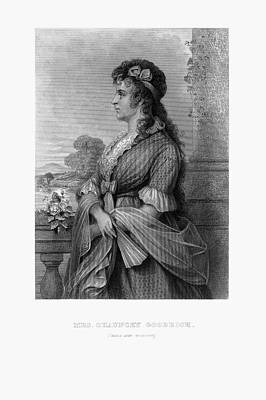 Engraved Portrait Of Mrs. Chauncey Goodrich, Mary Wolcott, Circa 1790 Poster by Peacock Graphics