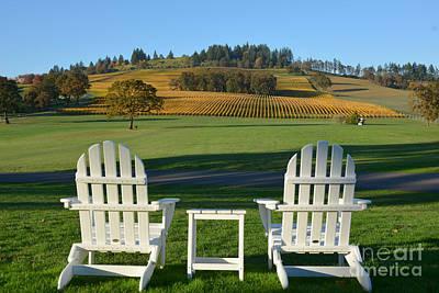 Enjoying Oregon Wine Country Poster