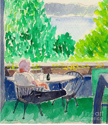 Enjoying The View-detail Poster by Fred Jinkins