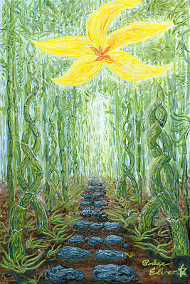Enlightened Path/ Hana's Gateway Poster by Podge Elvenstar