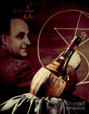 Enrico Fermi And Cp-1 Chianti Bottle Poster by Science Source