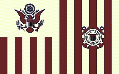 Ensign Of The United States Coast Guard 3 Poster