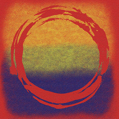 Enso Poster featuring the painting Enso 7 by Julie Niemela